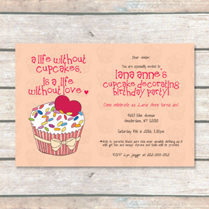 Sweet Surprise: Cupcake Birthday Invitation