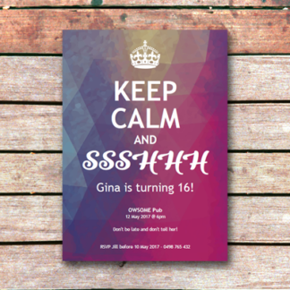 Keep Calm and Party: Madness Surprise Invitation