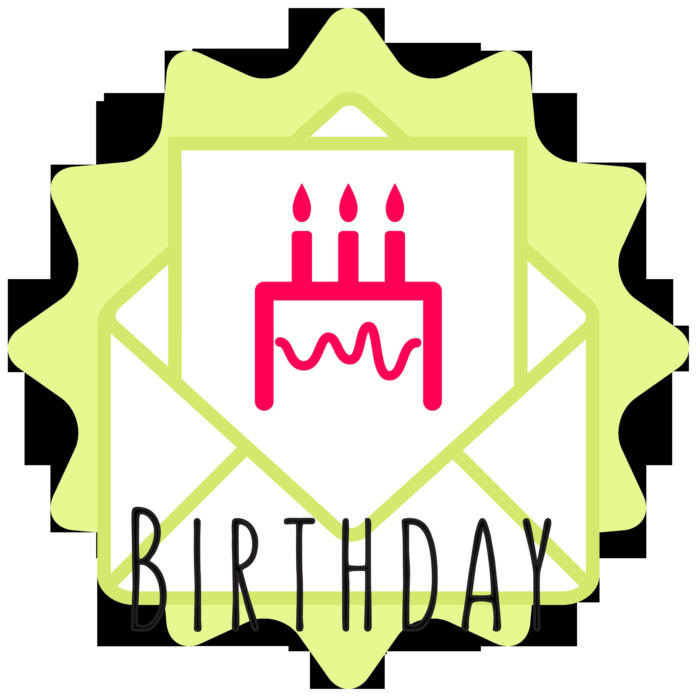 birthday button icon