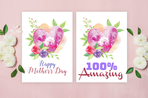 several variations of mother's day card
