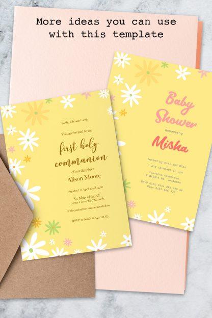 more ideas for customising daisies birthday invitation templates