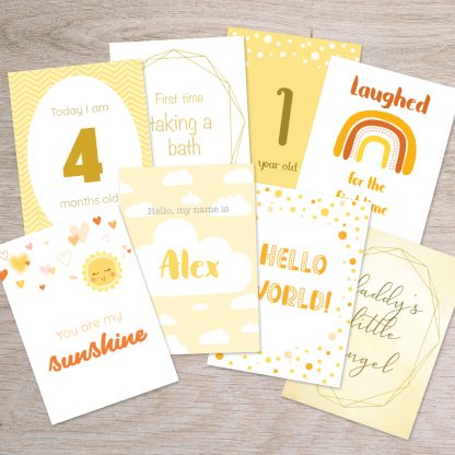 ray of sunshine baby milestone cards thumbnail